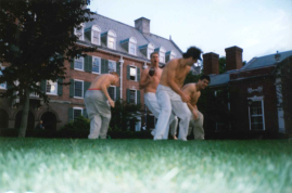 Early 2000s Courtyard Football Game