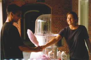 Cotton Candy at the Freshman BBQ 2002